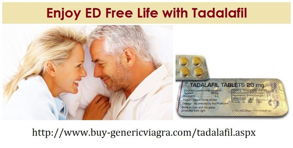 Tadalafil is the most popular oral medication among men who are having ED disorder. It is FDA approved, safe medication and shows effective results on use. Its cost-effectiveness makes it more popular. Free Shipment is also available for this medication. Buy Tadalafil online at http://www.buy-genericviagra.com/tadalafil.aspx .